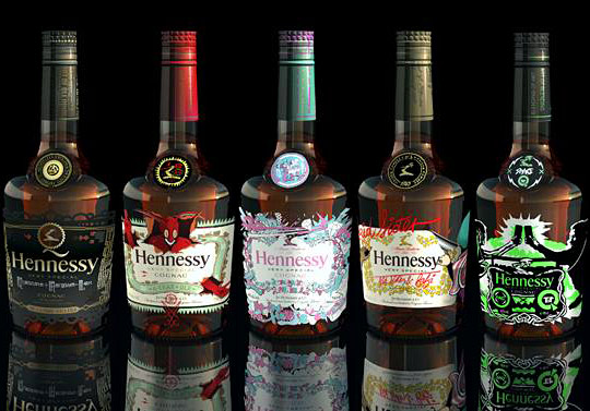 Hennessy-VS-Blending-Of-Art-Bottles-Dust-La-Rock-Fafi-A-Trak-Steve-Aoki-Q-Tip-Kid-Sister1