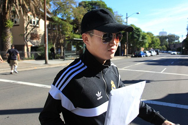 Photograph shows Vincent King, boyfriend of Christine Lee who is to appear today in Waverley local court to appeal for bail after being arrested on charges of fraud after overdrawing 4.6m dollars from her Westpac bank account.Photogrph by Dean Sewell/Daily Mail.Taken Friday 6th May 2016