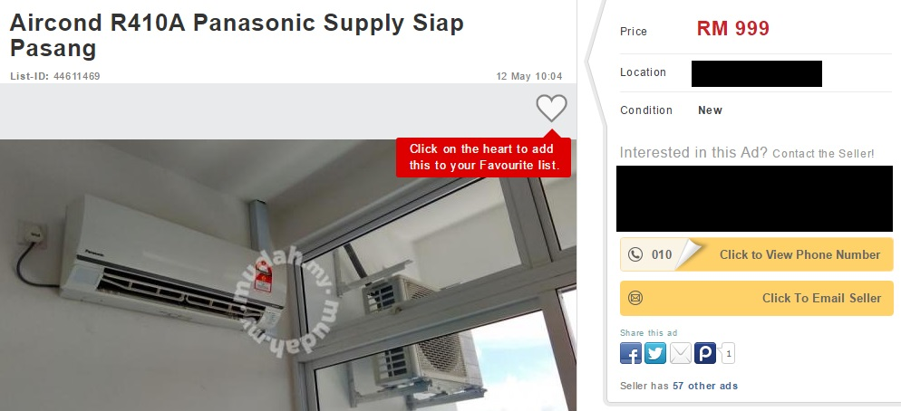 Panasonic Aircondition