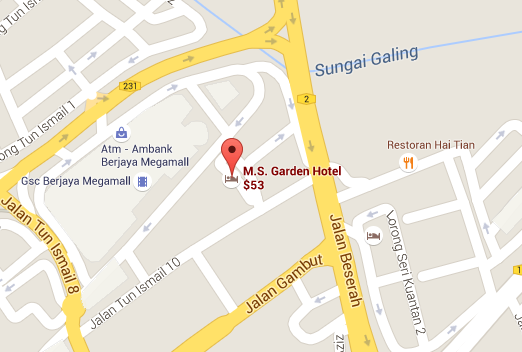 google map ms hotel